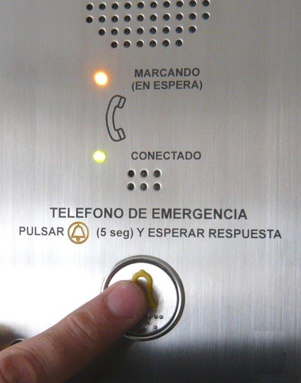 Punto de emergencia ascensores(imagen www.merak.es)