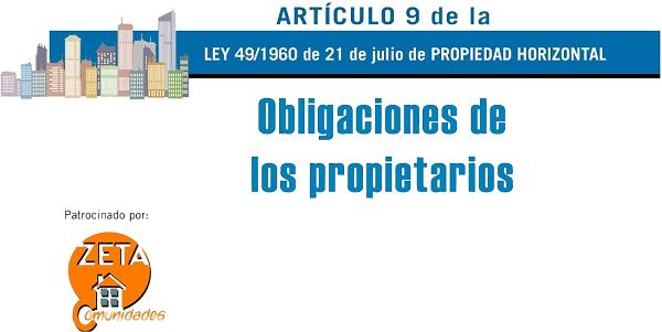 Artículo 9 de la Ley de Propiedad Horizontal