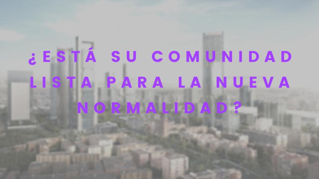 comunidades de propietarios en la nueva normalidad